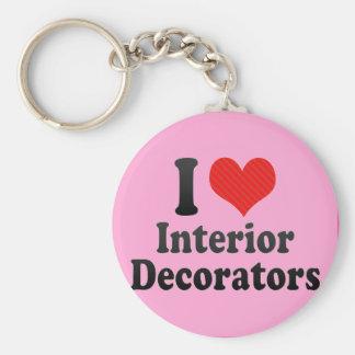 I Love Interior Decorators Keychains