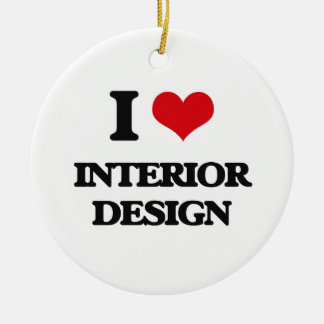 I Love Interior Design Double-Sided Ceramic Round Christmas Ornament