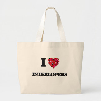 I Love Interlopers Jumbo Tote Bag