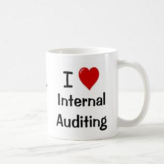 I Love Internal Auditing Intern. Auditing Heart Me Classic White Coffee Mug