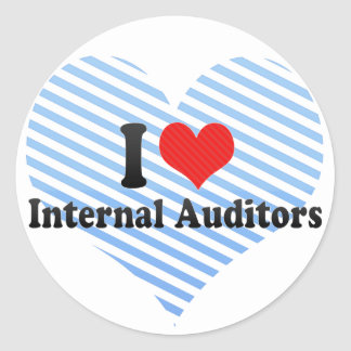 I Love Internal Auditors Round Stickers