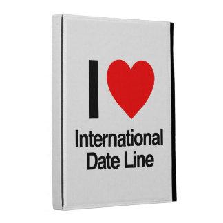 i love international date line iPad case