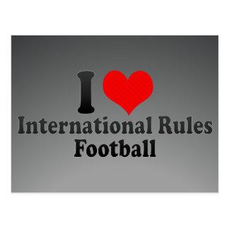 I love International Rules Football Postcard