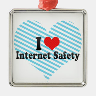I Love Internet Safety Ornament