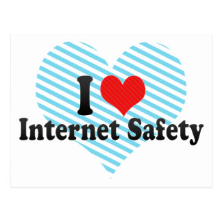 I Love Internet Safety Post Card