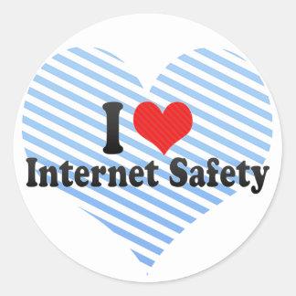 I Love Internet Safety Classic Round Sticker