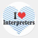 I Love Interpreters Stickers