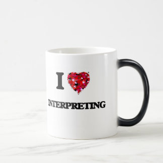 I Love Interpreting 11 Oz Magic Heat Color-Changing Coffee Mug