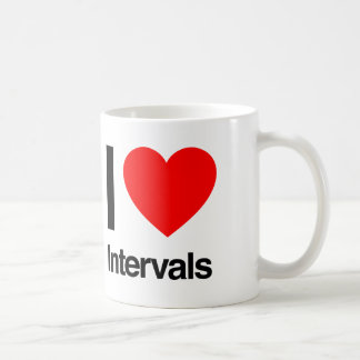 i love intervals coffee mug
