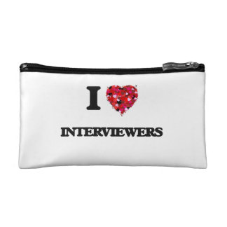 I Love Interviewers Cosmetic Bag
