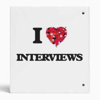 I Love Interviews Vinyl Binder