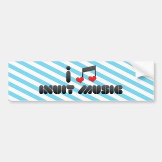 I Love Inuit Music Car Bumper Sticker