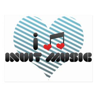 I Love Inuit Music Post Cards