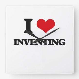 I Love Inventing Square Wallclock