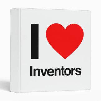 i love inventors vinyl binder