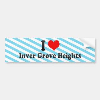 I Love Inver Grove Heights, United States Car Bumper Sticker
