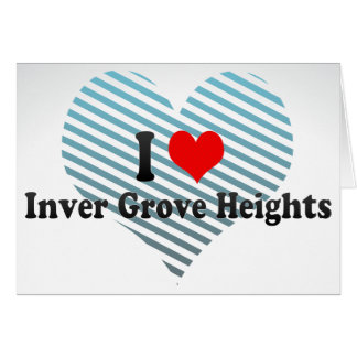 I Love Inver Grove Heights, United States Stationery Note Card