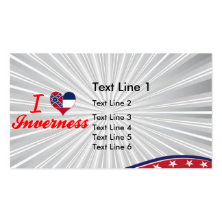 I Love Inverness, Mississippi Business Card