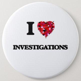 I Love Investigations Pinback Button