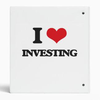 I Love Investing 3 Ring Binder