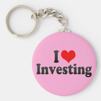 I Love Investing Key Chain