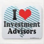 I Love Investment Advisors Mouse Pad