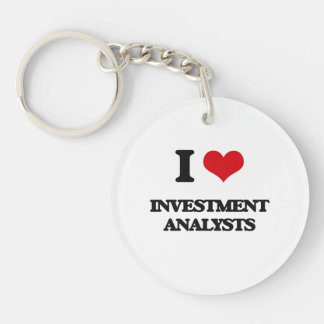 I love Investment Analysts Key Chains