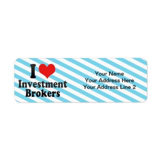 I Love Investment Brokers Custom Return Address Labels