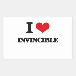 I Love Invincible Rectangular Sticker