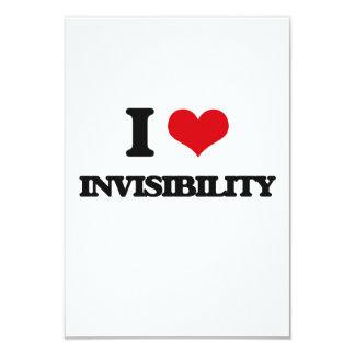 I Love Invisibility 3.5x5 Paper Invitation Card