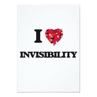 I Love Invisibility 5x7 Paper Invitation Card