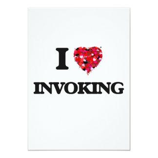 I Love Invoking 5x7 Paper Invitation Card