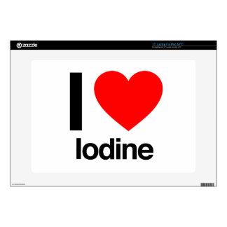 """i love iodine 15"""" laptop skins"""