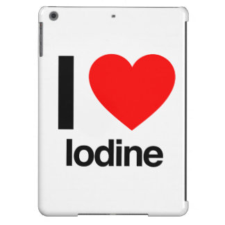 i love iodine iPad air covers