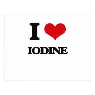 I Love Iodine Post Card