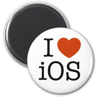 I love iOS - button 2 Inch Round Magnet
