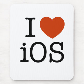 I love iOS - mouse mat