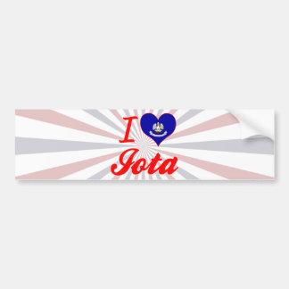 I Love Iota, Louisiana Bumper Sticker