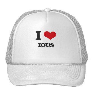 I Love Ious Mesh Hats