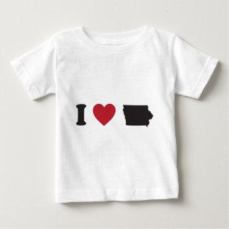 I Love Iowa Baby T-Shirt