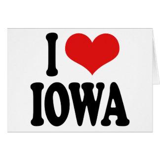I Love Iowa Card