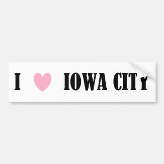 I LOVE IOWA CITY BUMPER STICKER