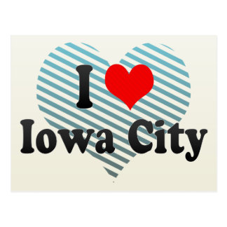 I Love Iowa City, United States Postcard