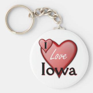 I Love Iowa Keychain