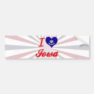 I Love Iowa, Louisiana Bumper Sticker