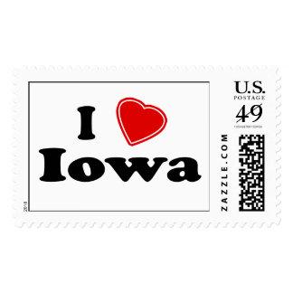 I Love Iowa Stamp