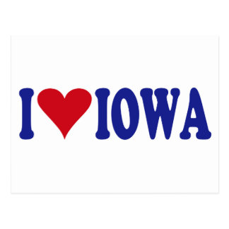 I Love Iowa Postcard