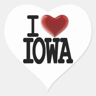 I Love IOWA Heart Sticker