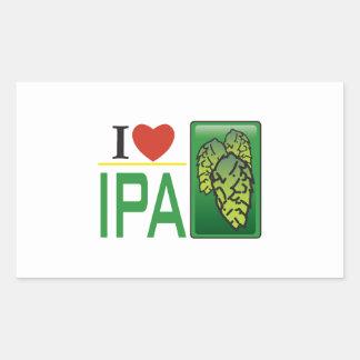 I Love IPA Rectangular Sticker