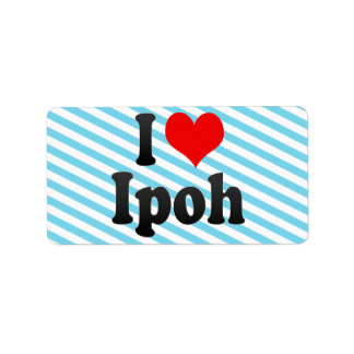 I Love Ipoh, Malaysia Personalized Address Label